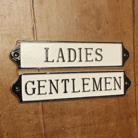 Restaurant Sign Bathroom Sign Restroom Sign Gentlemen Sign- Wedding Sign