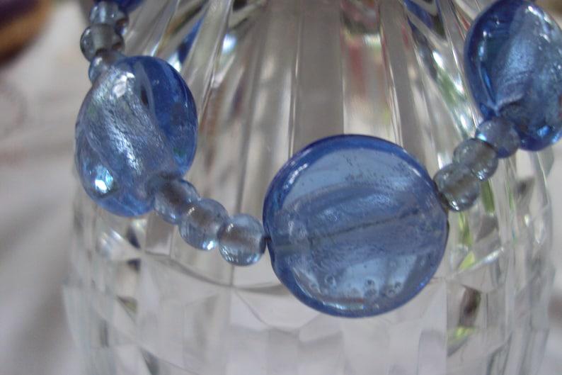Blue Foil Crystal Medical Alert Replacement Bracelet