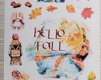 Hello Fall | Fall Mood | Bullet Journal Accessories | Planner Stickers | Cozy Fall | Autumn Cottagecore