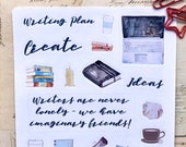 Writing Fun Stickers | Bullet Journal Accessories | Gifts for Writers | Planner Stickers