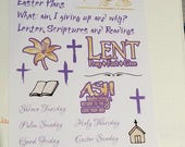 Lent Stickers for Bullet Journal, Erin Condren, planners