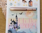 2021 New Year's decorative Bullet Journal accessories | Hello 2021 | Magical Fresh Start | Happy New Year