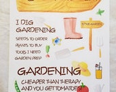 Gardening Fun Stickers for Bullet Journals, Planners, and More