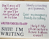 Writing humor stickers