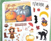 Hello October decorative stickers | Bullet Journal Accessories | I Love Autumn | Fall aesthetic stickers