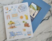 Beach Fun Stickers for Bullet Journals and Planners