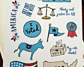 Vote Election Planner Stickers