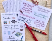 Writing Stickers BUNDLE | Bullet Journal Accessories | Writers Notebook | Novel Planning | Word Count Tracking
