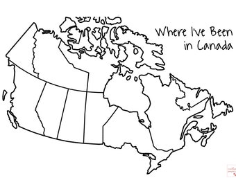 Canada Provinces Visited Sticker | Bullet Journal Accessories | Trip Scrapbook | Travel Journal