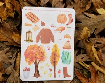 Autumn Hygge | Cozy Stickers | Bullet Journal Accessories | Planner Stickers | Cozy Fall | Fall Hygge