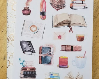 Bibliophile Reading Fun Stickers for Bullet Journals and Planners