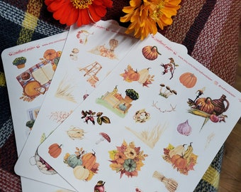 Autumn Harvest Set | Fall Mood | Bullet Journal Accessories | Planner Stickers | Samhain | Autumn Cottagecore