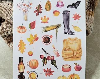 Autumn Mood | Autumn Hygge | Bullet Journal Accessories | Planner Stickers | Cozy Fall | Autumn Cottagecore
