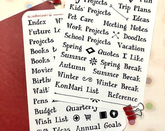New Bullet Journal Starter Kit | Bullet Journal Accessories | BuJo Stickers for Bullet Journal Collections, Future Planning, & more