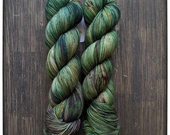Hand Dyed Yarn - 'Enchanted' - Superwash Merino Nylon Fingering Sock Yarn - 464 yards 100 grams