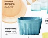 Porcelain Berry Basket- Medium SEEN in COASTAL LIVING