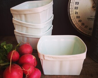 Set of Four Porcelain Cherry Basket- Small