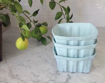SALE! Set of 3 Porcelain Berry Baskets- Large