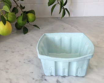 FREE SHIPPING Porcelain Berry Basket- Large