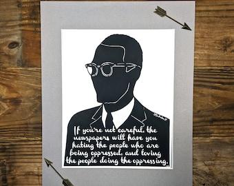Customized Silhouette Artwork - Papercut - Inspirational Quote - African American Art - Paper Art - Hand-cut Silhouette - Quotation Wall Art