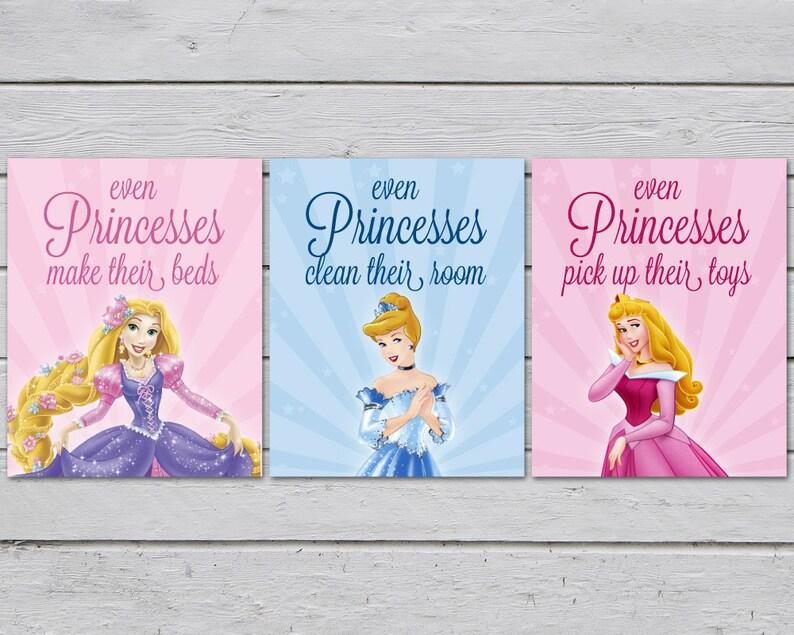 Princess Bedroom / Princess Bedroom Art / Girls Bedroom Rules / Princess  Art / Sleeping Beauty / Tangled / Cinderella / Rapunzel
