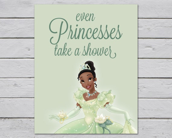 The Princess And The Frog Princess Tiana Bathroom Rules Etsy