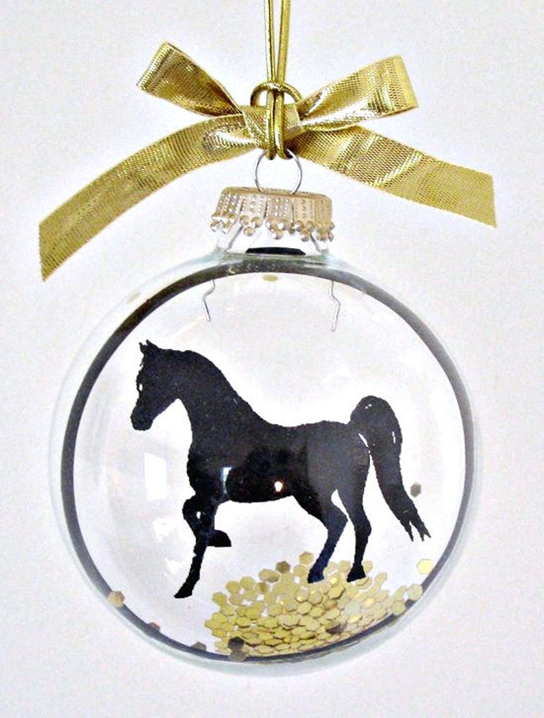 Horse Ornament Gifts for Animal Lovers Pet Loss Silhouette image 0