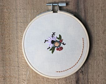 "Pe(tit)e No. 2 (~4"" Embroidery Hoop Art / Feminist Embroidery / Feminist Art)"