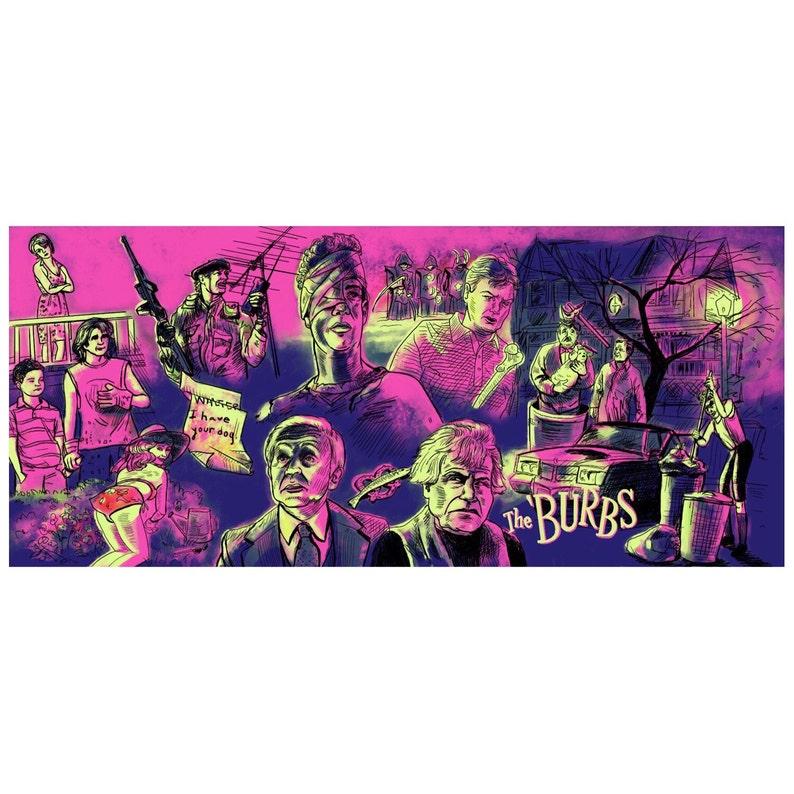 Poster movie fan art print The Burbs 12x20