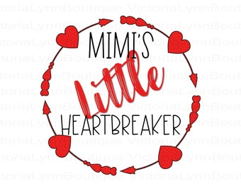 Mimi's Little Heartbreaker Valentine For Sublimation Printing, Valentines Day, tshirt png, Png File, Mimi Png, Instant Digital Download