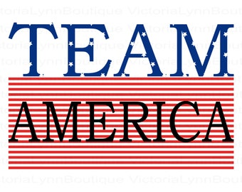Team America For Sublimation Printing, Patriotic Png, American Flag, Patriotic T-Shirt Png, America Png, Instant Digital Download, Patriotic