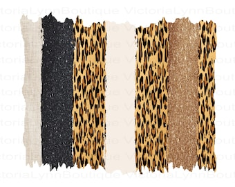 Gold Black and Cheetah Brushstrokes For Sublimation Printing, Background Png, PNG File, 300 DPI, DTG printing, Instant Digital Download