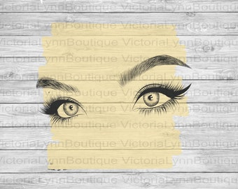 Pretty Eyes For Sublimation Printing, PNG File, 300 DPI, DTG printing, Instant Digital Download