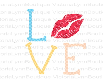 LOVE Kiss PNG For Sublimation Printing, Valentines Day, tshirt png, Kiss Png, Lips Png, DTG printing, Instant Digital Download