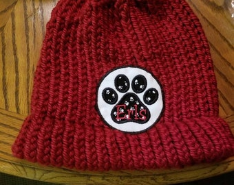 "CAP NAME PATCH - Paw Print - Veterinarian Scrubs Name Patch - (Style  60), Applique Patch, Fur Baby, Lively Font, 3.75""or 4.75"", Sew or Iron"