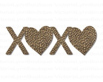 XOXO Leopard Print For Sublimation Printing, Valentines Day, Hearts Png, XOXO Png, Shirt Design, DTG printing, Instant Digital Download