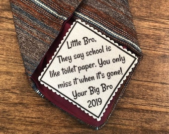 "Funny Graduation Tie Patch - Sew On or Iron On, 2.5"" Wide Patch, School Is Like Toilet Paper, Graduation Gifts, High School, College Grad"