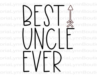 Best Uncle Ever With Arrow For Sublimation Printing, PNG File, Best Uncle Design, DTG printing, Instant Digital Download, Tshirt design