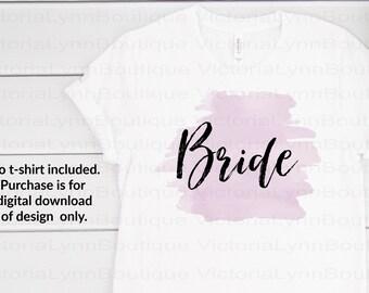 Bride on Plum Lilac Shade Watercolor Splash For Sublimation Printing, PNG File, 300 DPI, DTG printing, Instant Digital Download
