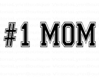 Number 1 Mom For Sublimation Printing, Mother's Day Png, PNG File, #1 Mom Design, Family Png, Instant Digital Download, Tshirt design