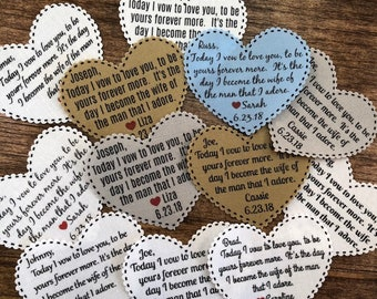 "Groom Tie Patch - From the Bride, Sew On, Iron On, Gift for Him, Today I Vow, 2.25"" Heart Shaped, Dot Border, Choose Font & Patch Colors"