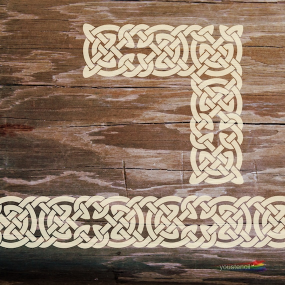 Celtic Knot Border Stencil Set with Corners and Terminations ST94