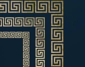 Greek Key Stencil Set with Corners  ST51
