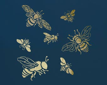 Bumble Bees, Stencil for Art,  ST48