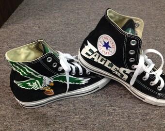 19eff940 Philadelphia Eagles Shoes Hand Painted