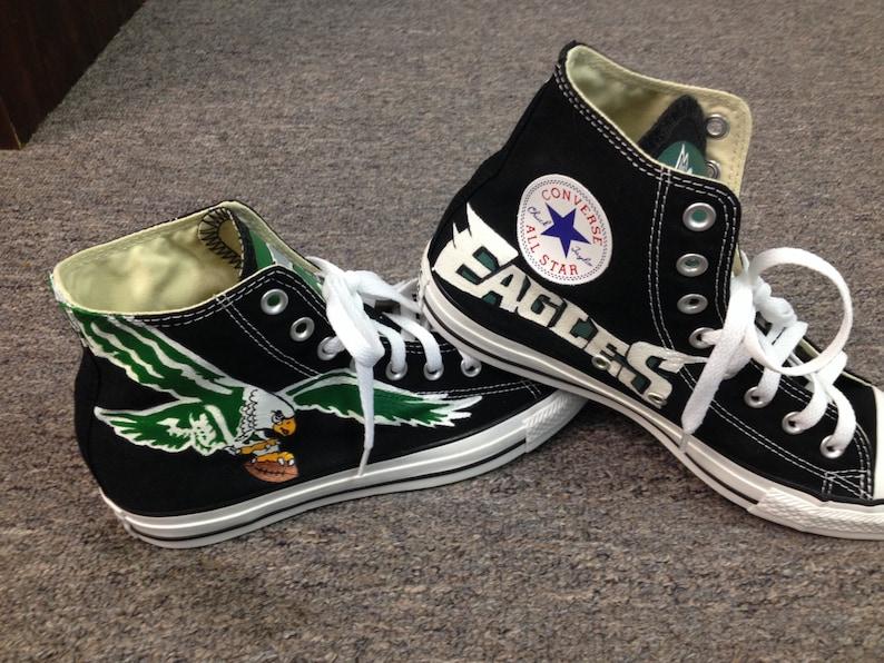3bc75c24 Philadelphia Eagles Shoes Hand Painted
