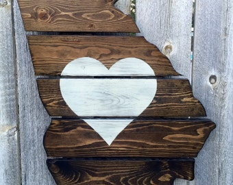 Recycled Pallet Georgia Heart
