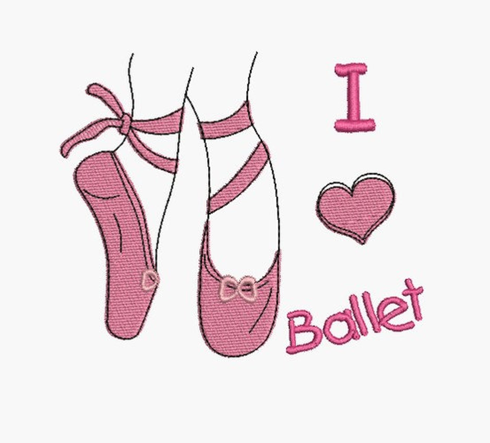 instant download machine embroidery design ballet shoes