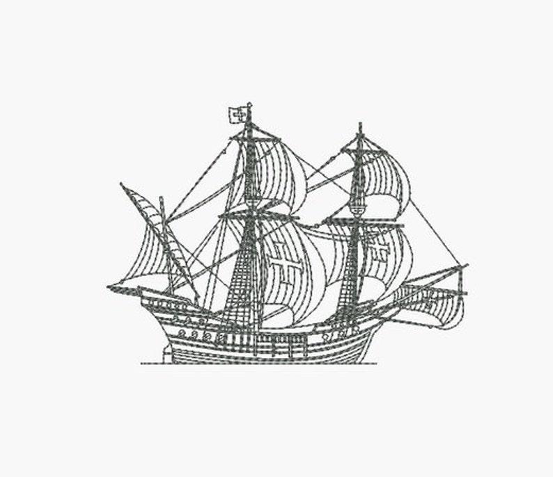 ca83b4f0143b Instant download Machine Embroidery design Boat galleon