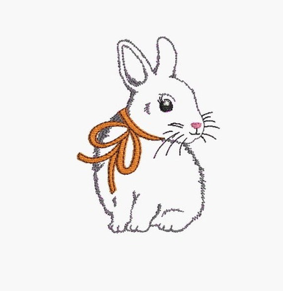 Instant Download Machine Embroidery Design Bunny
